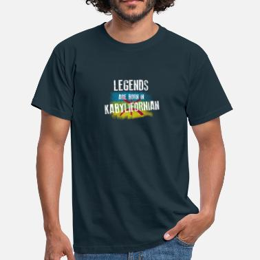 Drapeau Kabyle Legends are born in kabylifornian - T-shirt Homme
