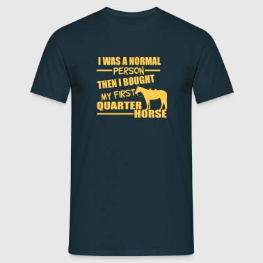 Normal Person - Quarter Horse - T-shirt herr