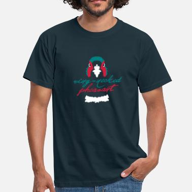 Pheasant Hunting pheasant_face - Men's T-Shirt