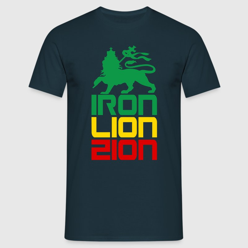 iron lion zion - Men's T-Shirt