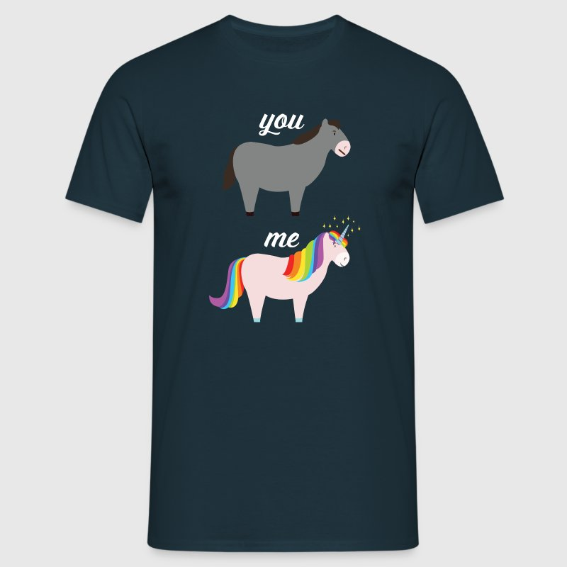 You VS Me (Donkey - Unicorn) - Männer T-Shirt