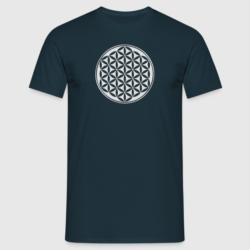 Fleur de vie - Flower of life - silver - sacred geometry - power of balancing and energizing, energy symbol - T-shirt Homme