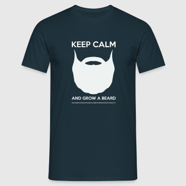 KEEP CALM AND GROW A BEARD - White logo - T-shirt Homme
