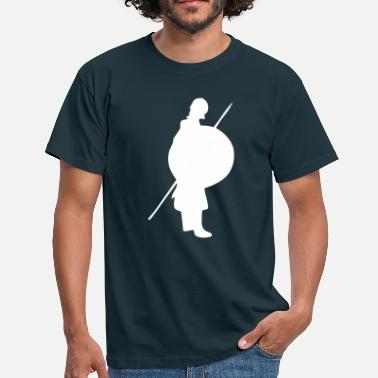 Økse Shield kriger, fighter - Herre-T-shirt