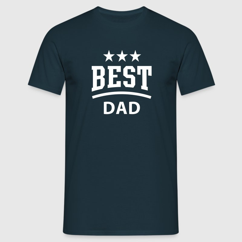 BEST DAD 3 Star - Männer T-Shirt