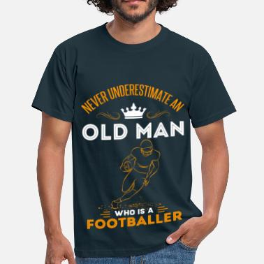 Oude Voetbal Oude man voetbal opa cadeau idee oude man - Mannen T-shirt