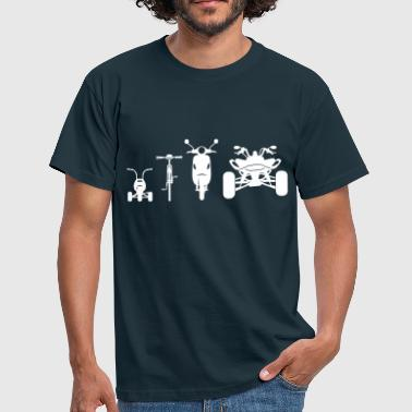 Quad Bike Motorcycle ATV Front Evolution  - Men's T-Shirt
