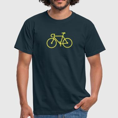 Fahrrad Bike Rennrad Bicycle Singlespeed Fixie Icon - Männer T-Shirt