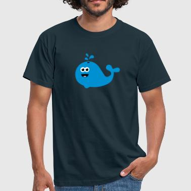 Happy Cartoon Wal - Männer T-Shirt