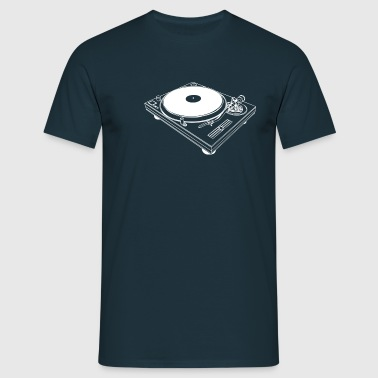 Turntable / White Print - Mannen T-shirt