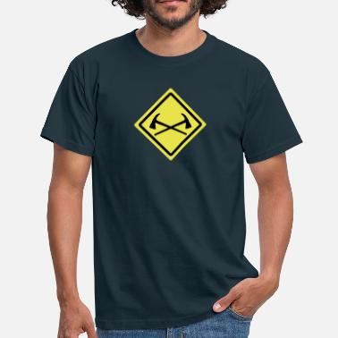 Bomberos fire fighter ax roadsign - Männer T-Shirt