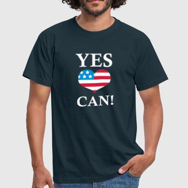Yes We Can!  - T-skjorte for menn
