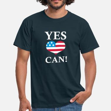 Yes We Can Yes We Can!  - T-skjorte for menn