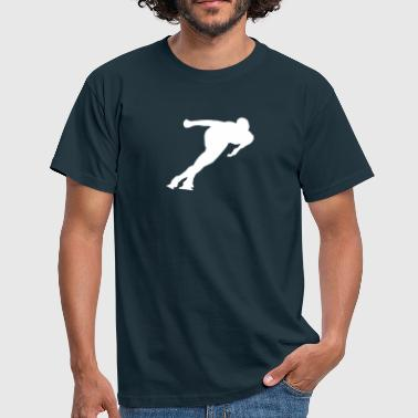 Speed-skating speed skating - Männer T-Shirt