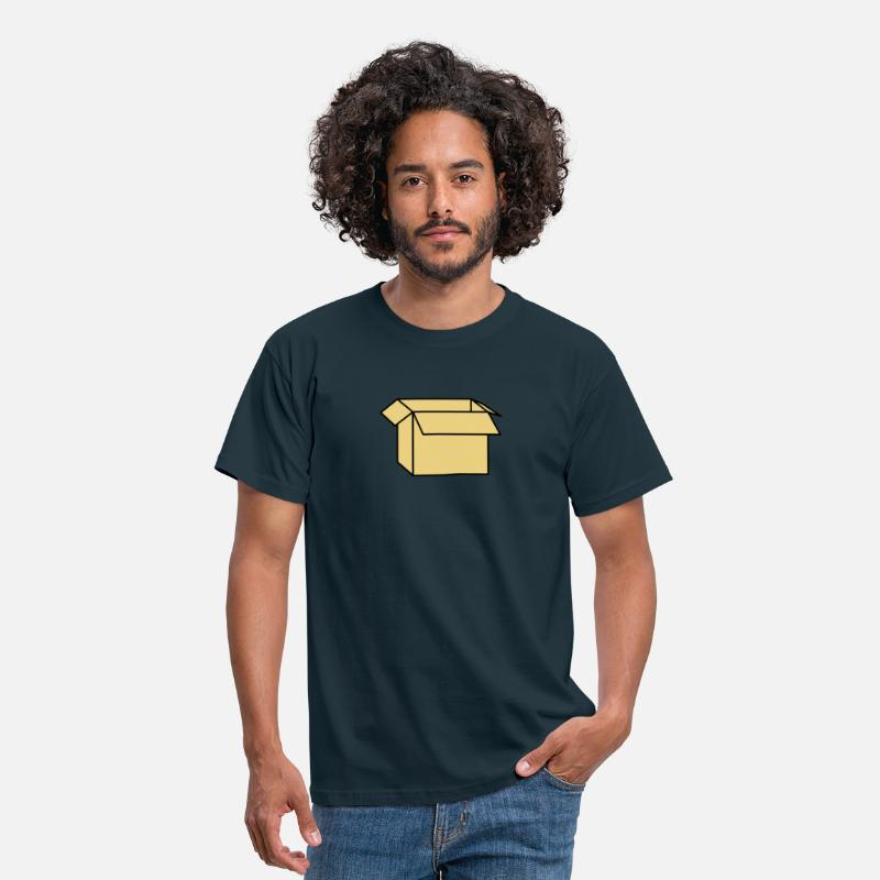 Box T-Shirts - Carton - Men's T-Shirt navy