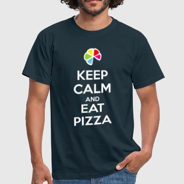 Keep Calm and Eat Pizza 1 (dark) - T-shirt Homme