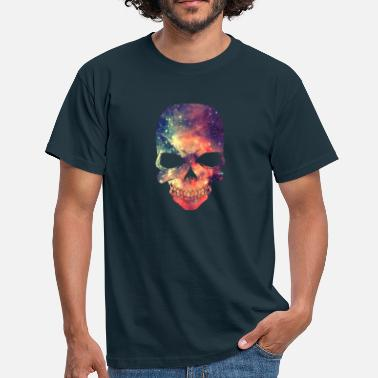 Cool Universe - Space - Galaxy Skull - T-shirt mænd