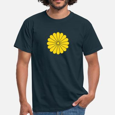 Traditionell chrysantheme - Männer T-Shirt