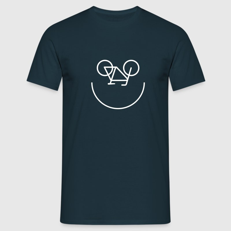 Bicycle Smiley - Mannen T-shirt