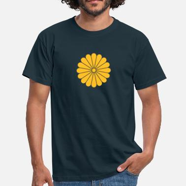 Blomst chrysanthemum - T-skjorte for menn