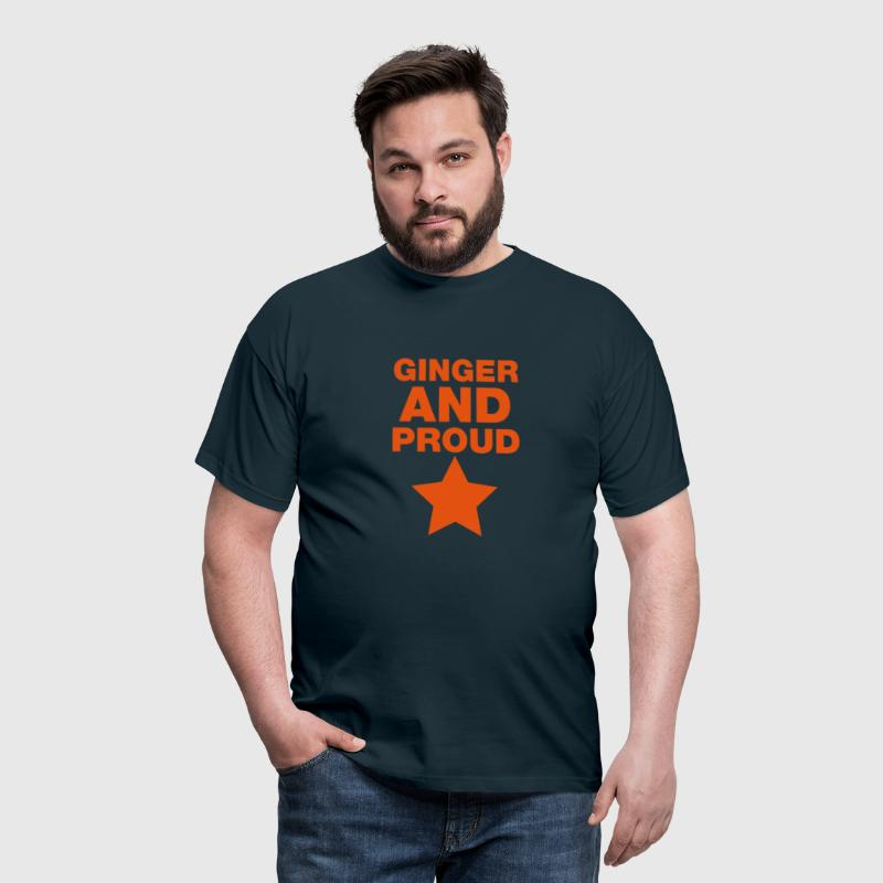 Ginger And Proud Star - Men's T-Shirt