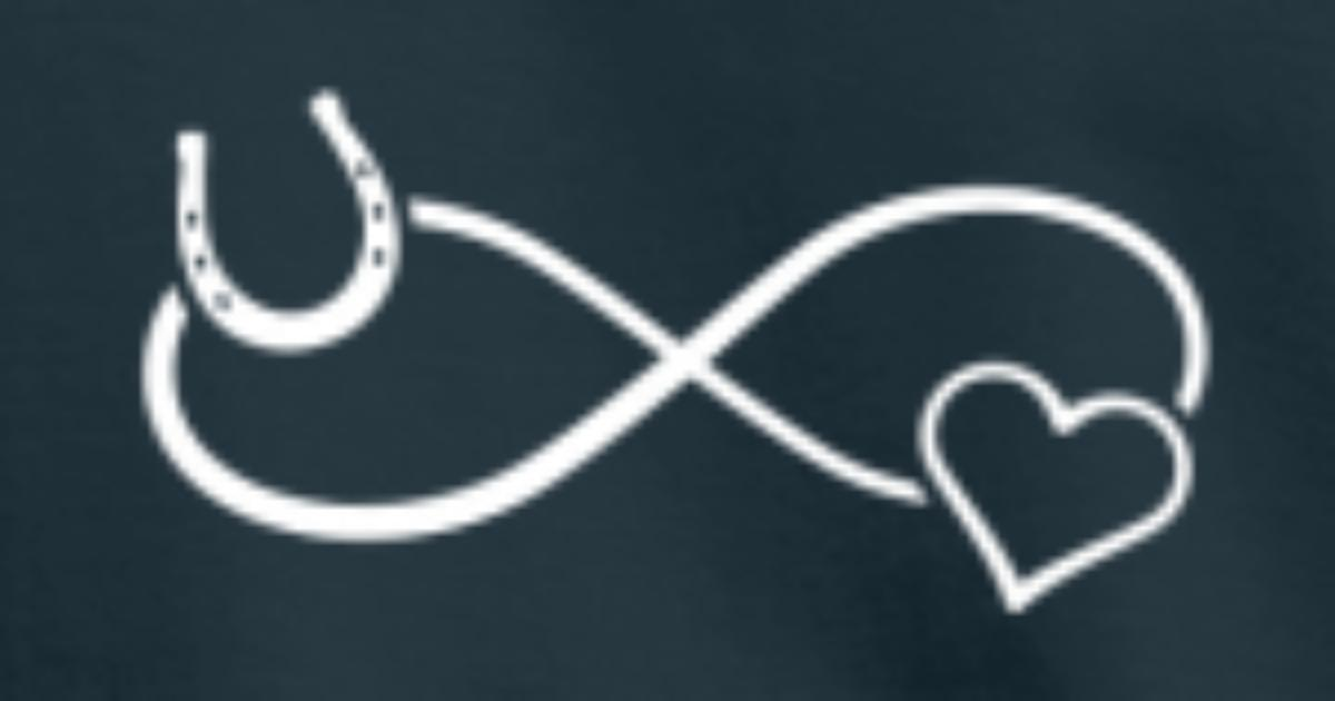 Horseshoe Heart Infinity Infinity Symbol By Kindomagic Spreadshirt