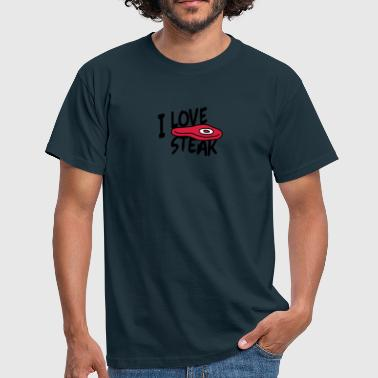 I Love Steak - Mannen T-shirt