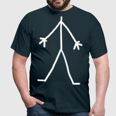 Stick Man white - Men's T-Shirt