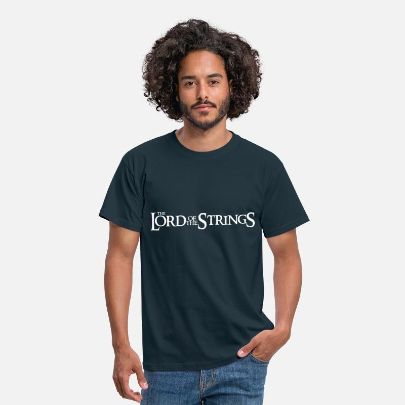 Guitar T-Shirts - The Lord Of The Strings - Men's T-Shirt navy