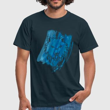 Apollo Wolf Paint blue - Men's T-Shirt