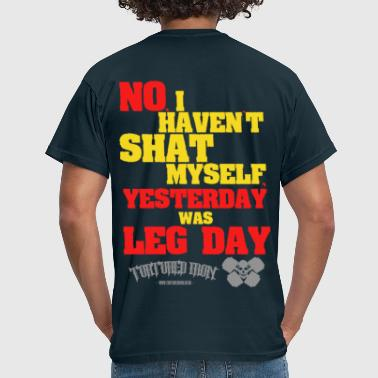 Deadlift LEG DAY FUNNY - Men's T-Shirt