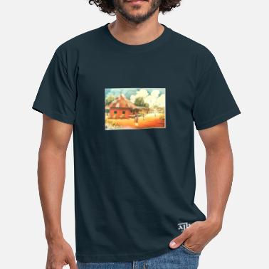 Rural Rural African Village Scene Mug - Men's T-Shirt