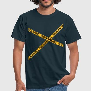 Police Line Do Not Cross Police Line - Men's T-Shirt