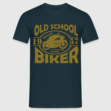 Old School Biker (customise the year) - Men's T-Shirt