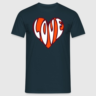 LOVE, love, heart, heart, sex, love, marriage, friend, engagement, wedding, favourite, friend, kiss, - Men's T-Shirt