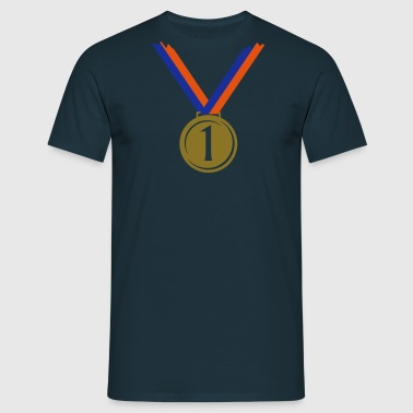 Gold medal for first place V  - Men's T-Shirt