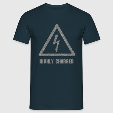 Hazard Symbol - High Voltage - Men's T-Shirt