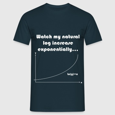 Maths Joke Expontential Log - Men's T-Shirt