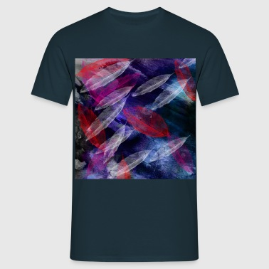 glowing feathers - Men's T-Shirt