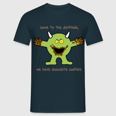 Chocolate cookie Monster - Männer T-Shirt