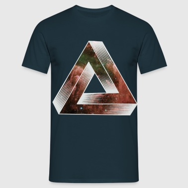 Cosmic Impossible Triangle - Men's T-Shirt