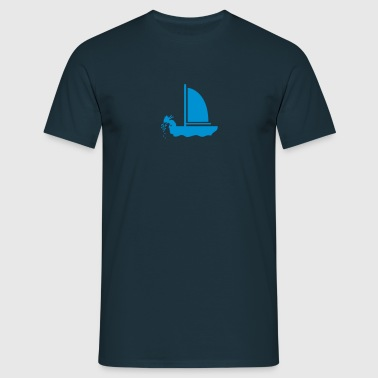 Seekrank / seasick (1c) - Men's T-Shirt