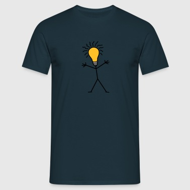 Light Bulb Man - Männer T-Shirt