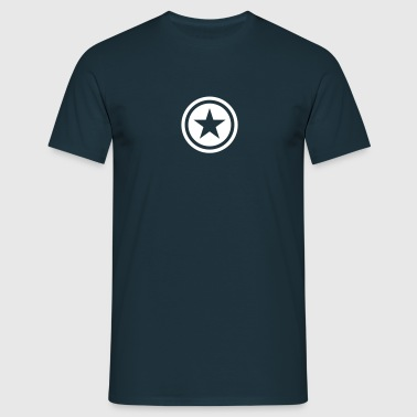 star single blackcircle - Mannen T-shirt