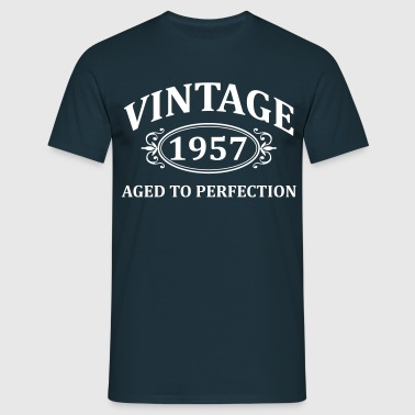 Vintage 1957 Aged to Perfection - Men's T-Shirt