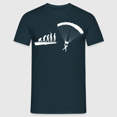 Evolution parachutist  - Men's T-Shirt