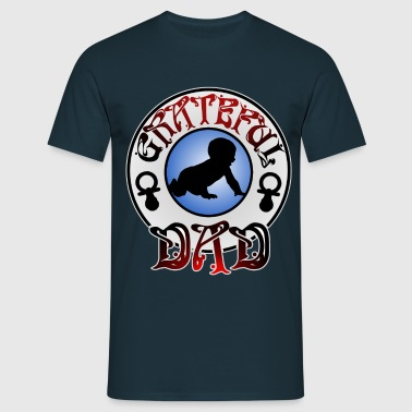 grateful dad - Männer T-Shirt