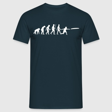 Evolution Frisbee - Männer T-Shirt