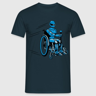 Cool funny robot wheelchair funny - Men's T-Shirt