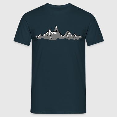 Alps mountains tent tents top mountains at - Men's T-Shirt